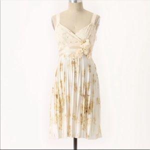 Deletta Pleated Tea and Sweets Midi Dress